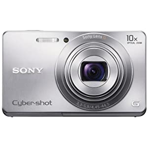 Sony Cyber-shot DSC-W690 16.1MP Point-and-Shoot Digital Camera (Silver) with Camera Case