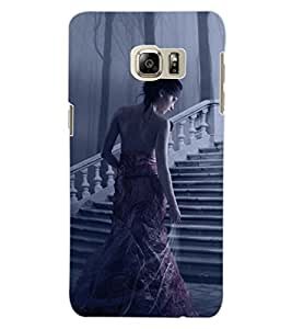 ColourCraft Beautiful Girl Design Back Case Cover for SAMSUNG GALAXY S6 EDGE PLUS