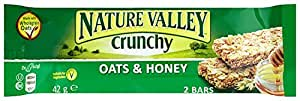 Nature Valley Crunchy Granola Oats and Honey Bar 42 g (Pack of 18)