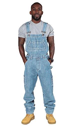 Salopette Jeans Uomo - Lavato chiaro (XS) salopette a buon mercato salopette uomo