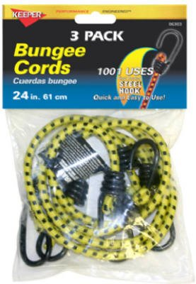 Keeper 06303 24 inch Bungee Cord, 3 Pack keeper