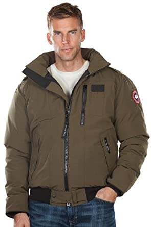 Mens Borden Canada Goose Down Bomber Jacket by Overland Sheepskin Co