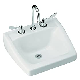 Kohler K-1724-0 Chesapeake Wall-Mount Lavatory, White