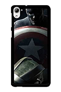 Caseque Angry Captain America Back Shell Case Cover For HTC Desire 826