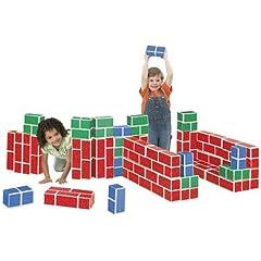 PlayBrix Cardboard Building Bricks-Set of 54 Assorted