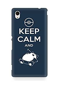 Amez designer printed 3d premium high quality back case cover for Sony Xperia M4 (Keep calm and)