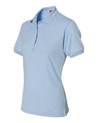 Jerzees 437W Ladies 50-50 Cotton and Polyester Jersey Golf Shirt, Light Blue, Medium (Light Blue Sports Tape compare prices)