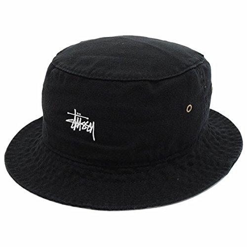 (ステューシー) STUSSY バケット ハット Smooth Crusher Bucket Hat 帽子 サイズL-XL ブラック [並行輸入品]