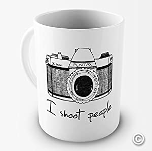 I Shoot People Camera Photography Novelty Funny Mug Tea Coffee Gift Office Cup ...
