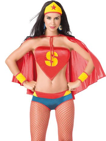 Sexy Wonderwoman Style Superhero Costume – Size 6-10