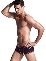 SEOBEAN Sexy Low Rise Boxer Brief Bref Slips Sous-vêtements Homme