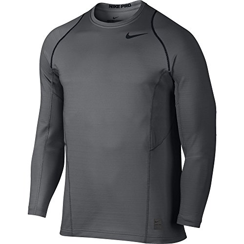 Men's Nike Pro Hyperwarm Top Dark Grey/Black Size XX-Large