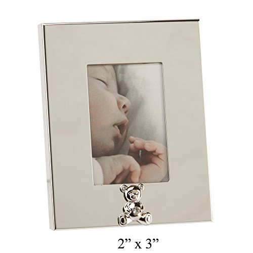 Mirrored Photo Frame With Teddy Bear Holding A Gem By Haysom Interiors