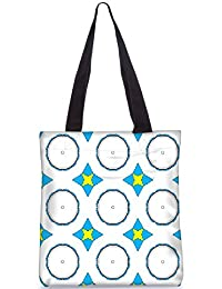 Snoogg Digital Floral Decor Pattern Fashion Printed Shopping Shoulder Lunch Tote Bag For Women