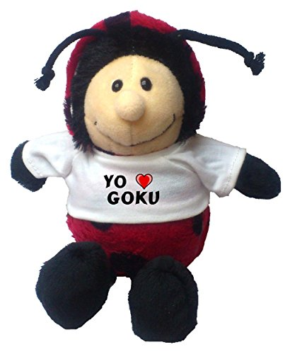 Mariquita-de-peluche-con-Amo-Goku-en-la-camiseta-nombre-de-pilaapellidoapodo