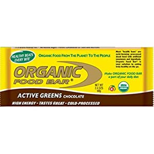 Organic Food Bar Active Green Chocolate, 12 Count