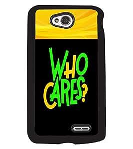 Fuson 2D Printed Quotes Designer back case cover for LG L70 - D4343