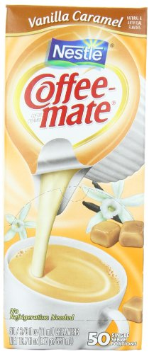 Coffee-mate Coffee Creamer, Vanilla Caramel Liquid Singles, 0.375-Ounce Creamers, (Pack of 50) at Sears.com