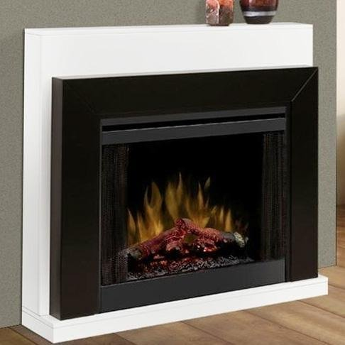Dimplex Ebony Covertable Corner Electric Fireplace Black/White picture B008LBELPU.jpg