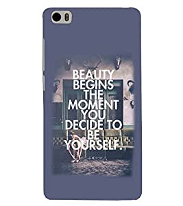 PRINTSWAG SLOGAN Designer Back Cover Case for XIAOMI REDMI MI5
