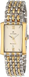 Titan Regalia Analog Beige Dial Mens Watch - NE1927BM02