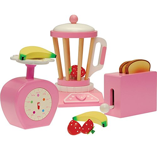CP Toys All Wood Pretend Play Kitchen Accessory Set with Scale, Toaster and Blender / 13 pcs. (Toaster Pc compare prices)
