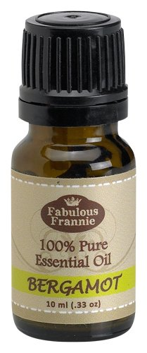 Bergamot 100% Pure, Undiluted Essential Oil Therapeutic Grade - 10 ml. Great for Aromatherapy