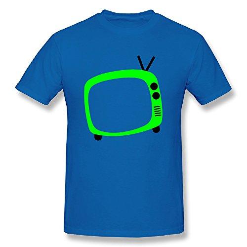 Nasy Men'S Vintage Tv Cotton Short Sleeve T Shirt M Royalblue