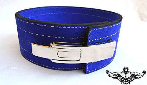 Quest Powerlifting Belt with Lever Buckle (Blue) - Weightlifting Crossfit Strongman (29 - 37 Inch Waist (Medium)) (Inzer Lifting Belt compare prices)