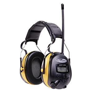AO Safety 90541 WorkTunes AM/FM Hearing Protector with Digital Tuning and MP3 Input