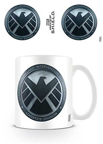 Marvel's Agents Of S.H.I.E.L.D. - Tazza di ceramica, con logo, multicolore