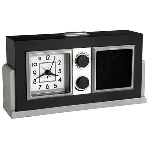 seth thomas baxter analog alarm clock radio. Black Bedroom Furniture Sets. Home Design Ideas
