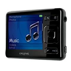 Creative ZEN MX FM Tragbarer MP3-/Video-Player 8 GB mit Radio schwarz