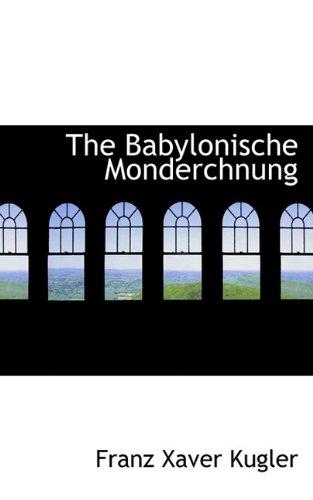 The Babylonische Monderchnung