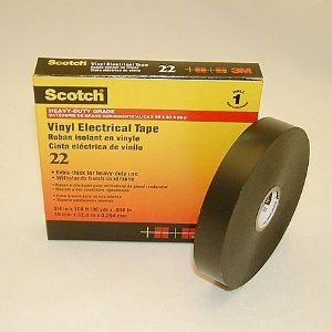 "Scotch Heavy Duty Vinyl Electrical Tape 22, 3/4"" Width, 36 Yard Length (Pack Of 1)"