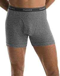 Hanes Classics Men`s TAGLESS No Ride Up Boxer Briefs 5-Pack, Assorted, X-Large