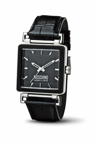 Moschino MW0062 LETS ASK SS Black dial strap Watch