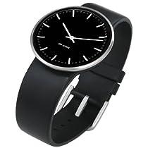 """Rosendahl Arne Jacobsen Watch Black Banker Dial Black Calf Skin Band (1.3"""" Dia.)"""
