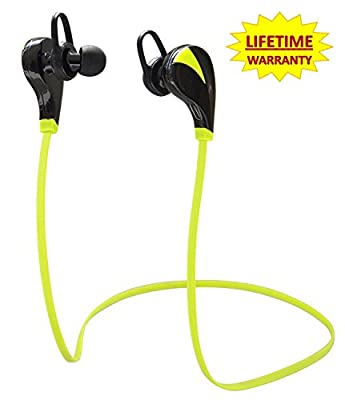 #1 BEST SELLING Evizian® Bluetooth 4.0 Wireless Stereo Sweatproof Jogger, Running, Sport Headphones Earbuds Earphone with Microphone Hands-free Calling for iphone 6, 6 Plus, 5 5c 5s 4s ipad, LG G2, Samsung Galaxy S5 S4 S3 Note 3 and Other Android Cell Ph