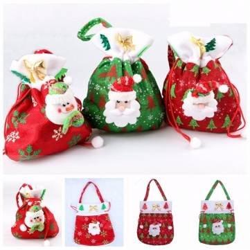 Christmas Xmas Santa Clau Gift Candy Drawstring Bag Hanging Handbag^. (Giant Jordan Box Draw compare prices)