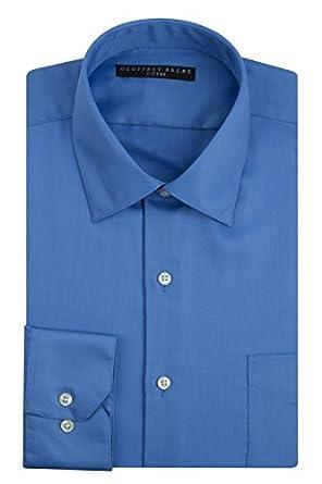 Geoffrey Beene Sateen Fitted Dress Shirt - Bluebird (14.5 - 32/33, Bluebird)