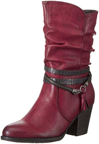 Rieker Damen 95778 Kurzschaft Stiefel, Rot (Wine/Antracite / 35), 37 EU