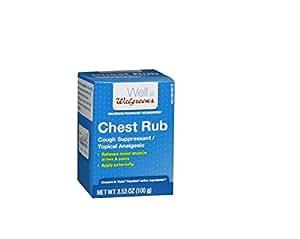 Amazon Com Walgreens Medicated Vaporizing Chest Rub 3 53