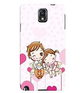 PrintVisa Romantic Love cute Couple 3D Hard Polycarbonate Designer Back Case Cover for Samsung Galaxy Note 3