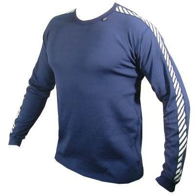 Helly Hansen Stripe Crew Neck Long Sleeve Baselayer Top - XX Large