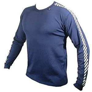 Helly Hansen Stripe Crew Neck Long Sleeve Baselayer Top - X Small