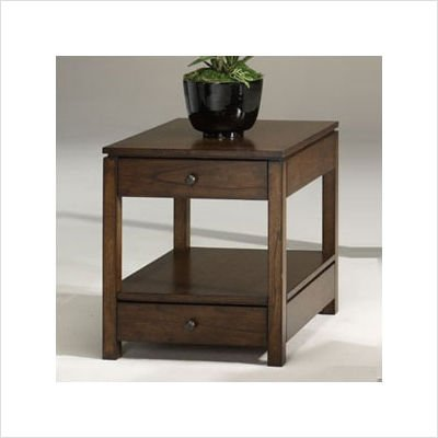 Image of Hammary T2004221-00 Ardmore Rectangular Drawer End Table in Medium Brown Finish (T2004221-00)