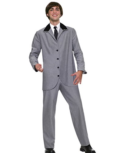 British Invasion 60s Band Costume Suit Jacket and Pants Theatrical Mens Costume (British Invasion Jacket compare prices)