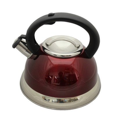 2.8-Qt. Tri-Ply Bottom Whistling Tea Kettle Color: Red