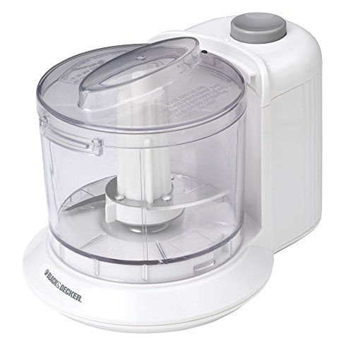 BLACK+DECKER HC306 1-1/2-Cup One-Touch Electric Chopper, White (Electric Vegetable Chopper compare prices)